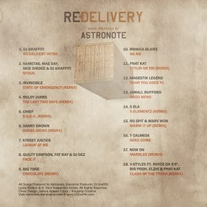 Re-Delivery Back Cover Tracklist